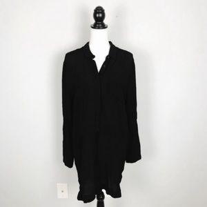 ASTR Black Long Sleeve Shift Dress